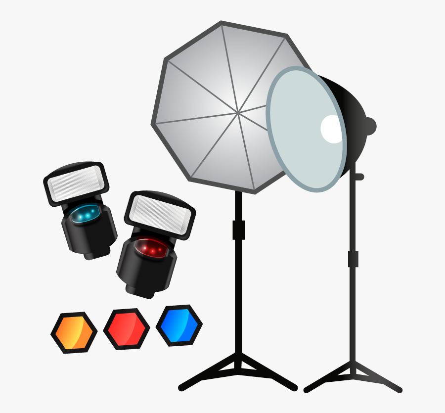 Camera Lights Clipart.