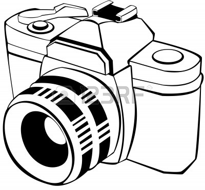 Camera Line Drawing Clip Art.
