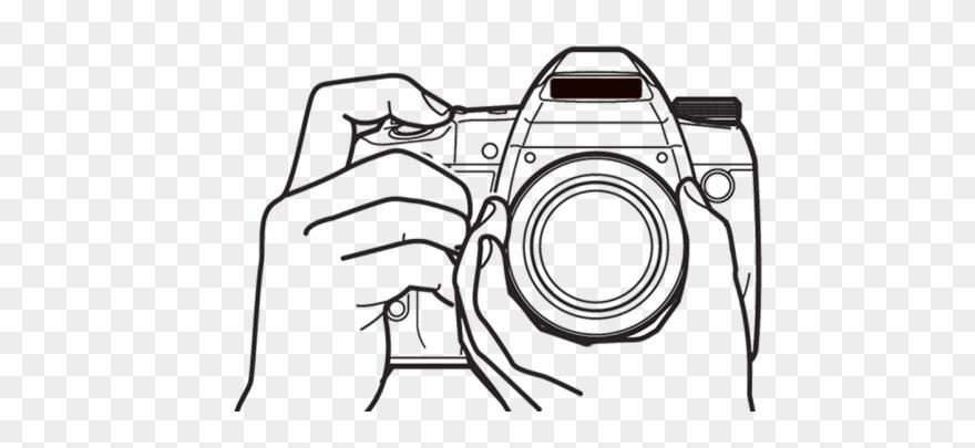 Line Art Camera Png Clipart (#1396127).