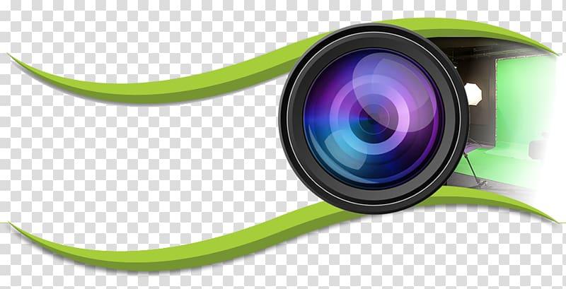 Camera lens Logo graphic film, Video Camera Lens File, black.