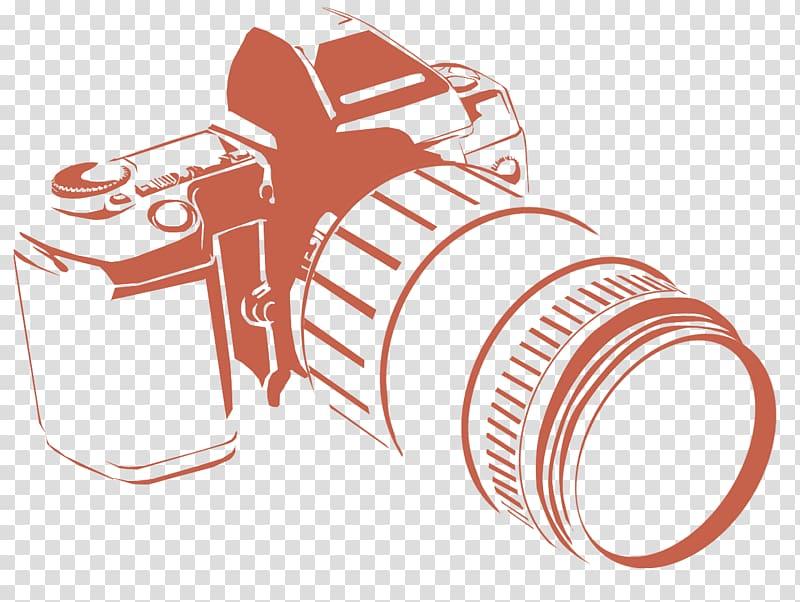 Brown camera illustration, Logo grapher, grapher HD.