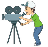 Camera man filming movie » Clipart Station.