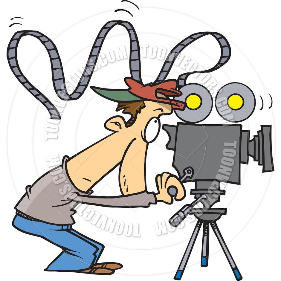 Camera Operator Clipart.