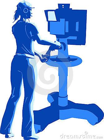 Tv Camera Operator Stock Illustrations.