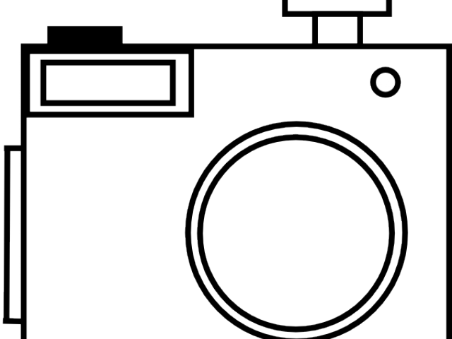 Photo Camera Clipart Outline.