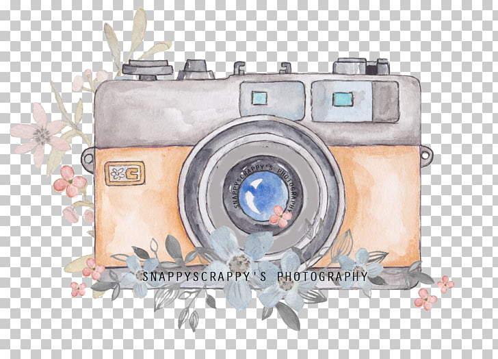 Camera Watercolor painting Photography, watercolor camera.