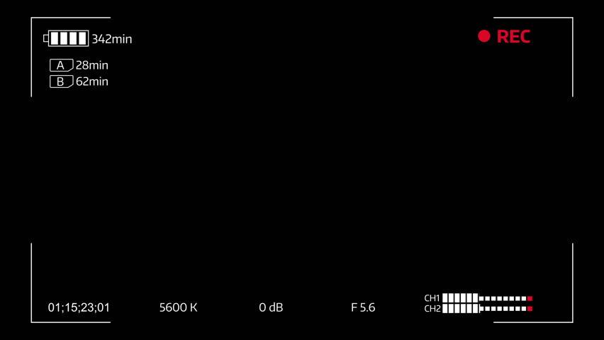 Camera Viewfinder Digital Overlay Display Stock Footage Video (100%  Royalty.