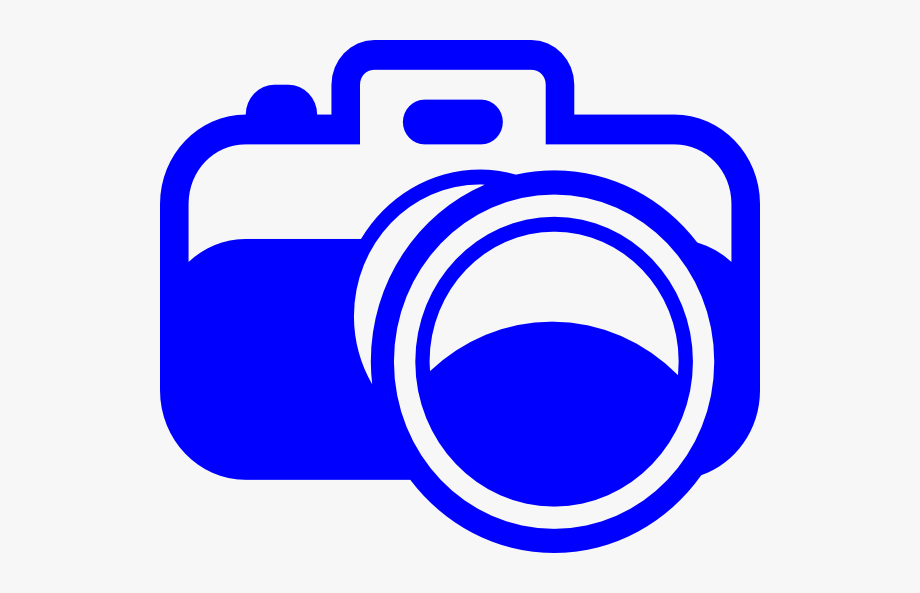 Camera Clipart Blue.