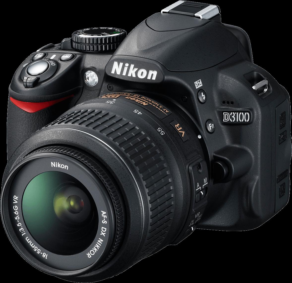 Nikon D 3100 Photo Camera transparent PNG.