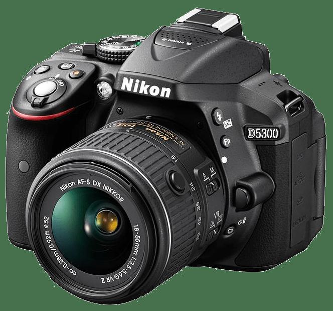 Nikon D5300 Camera transparent background Photography image.