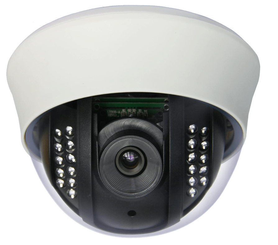 CCTV Camera transparent background image for web design graphics.