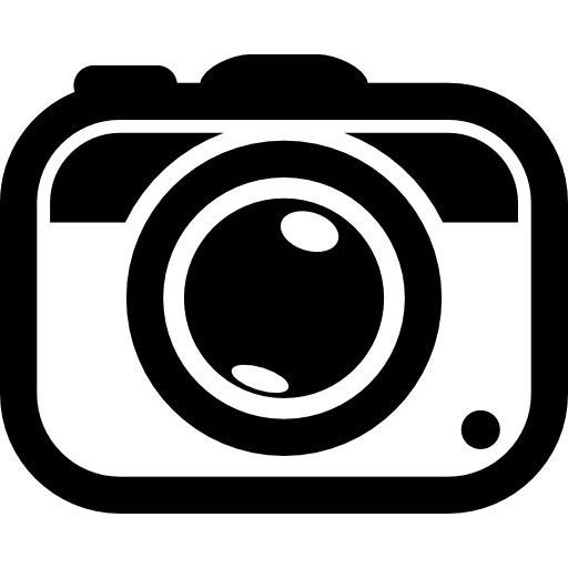 Photo camera tool rounded symbol Icons.