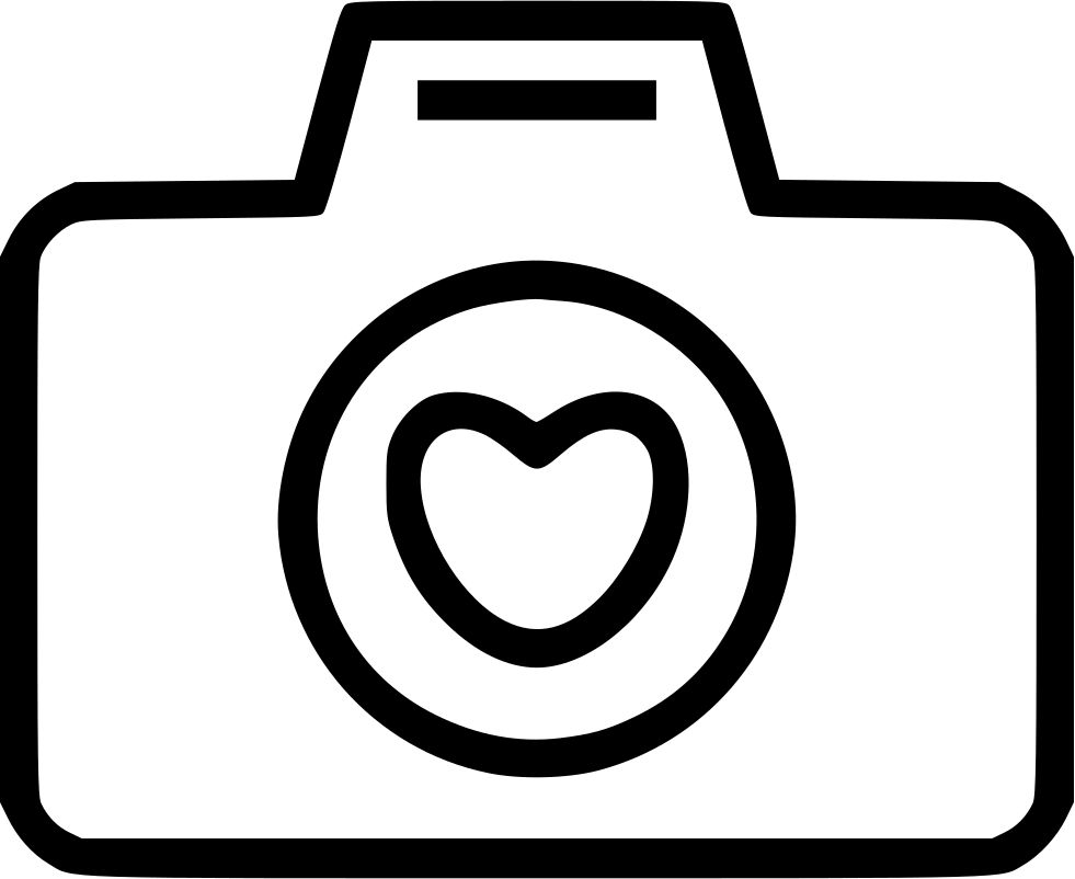 Camera Love Heart Svg Png Icon Free Download (#469256.