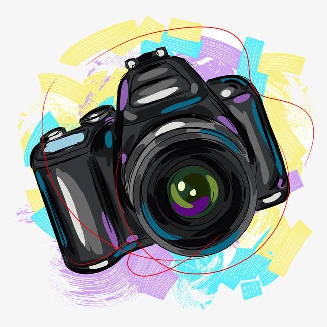 Camera Creative Cartoon Hand Painted Png And Psd Camera Png Vector.
