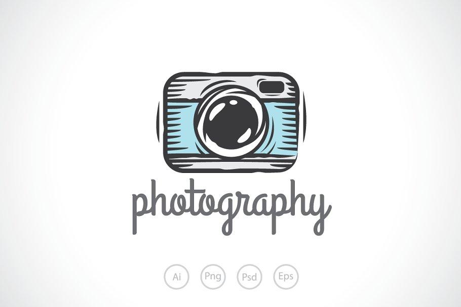 Camera Sketch Logo Template ~ Logo Templates ~ Creative Market.