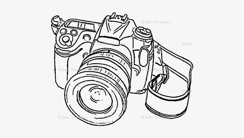 Vintage Camera Drawing Tumblr Png.