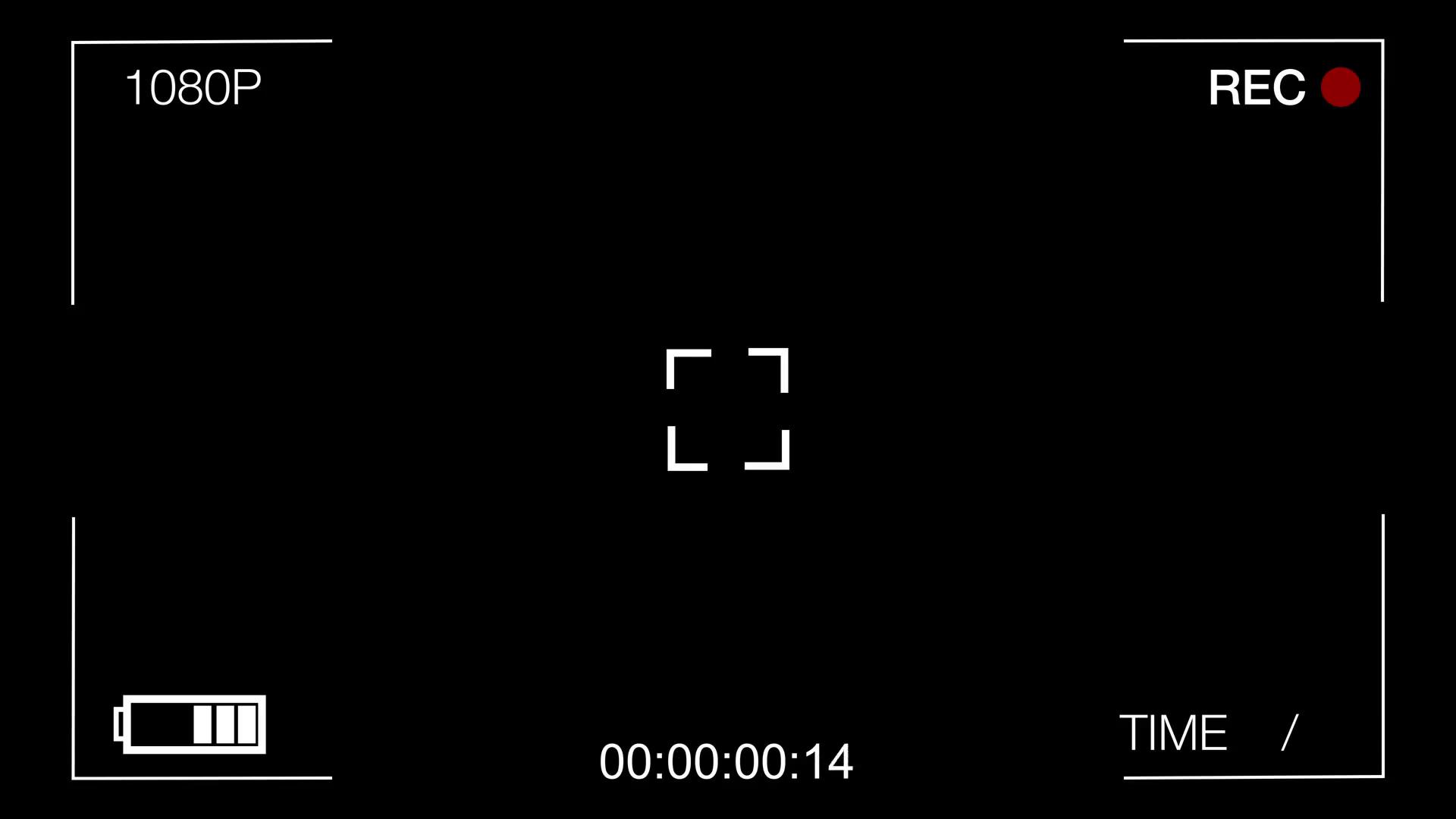 black screen CCTV camera,time goes forward Motion Background.