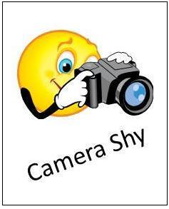 Camera Shy Clipart.