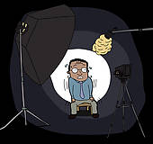 Camera Shy Clip Art.