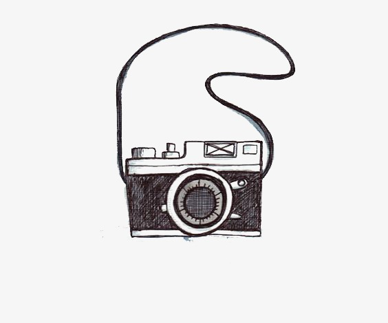 Camera, Camera Clipart, Hand Painted The Camera, Sketch PNG.