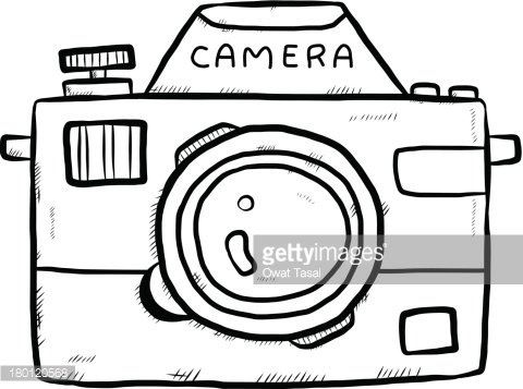Classic Camera Sketch premium clipart.