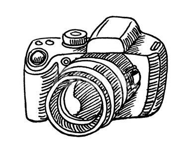 Digital Camera Sketch premium clipart.