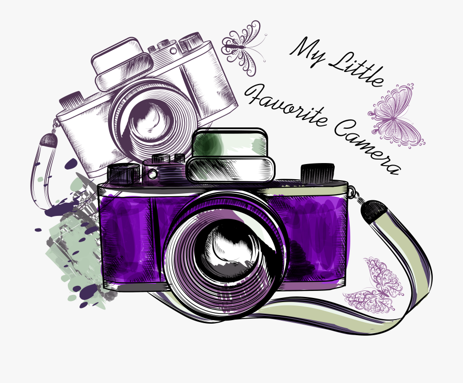 Photography Clipart Camera Sketch.
