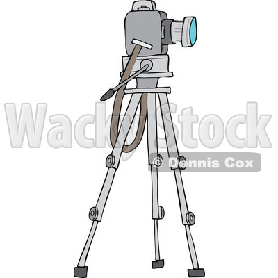of a Camera on a Tripod Stand.