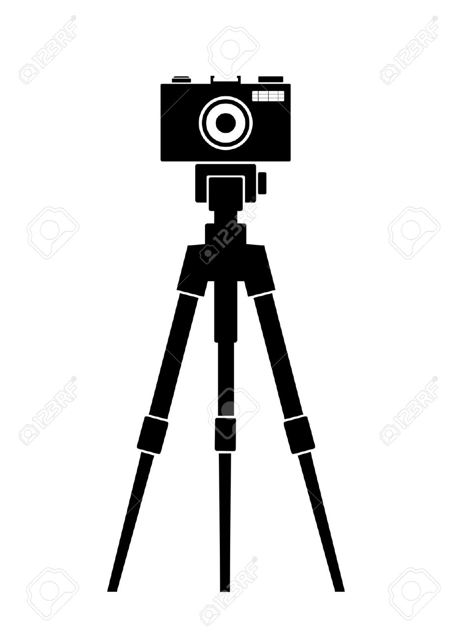 Camera tripod clipart.