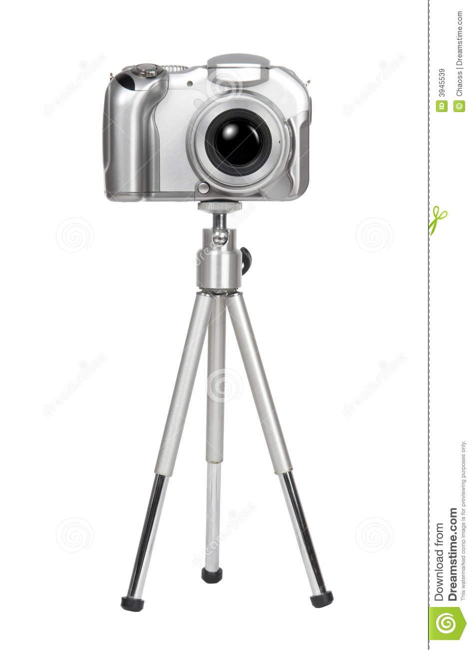 Camera on tripod clipart.