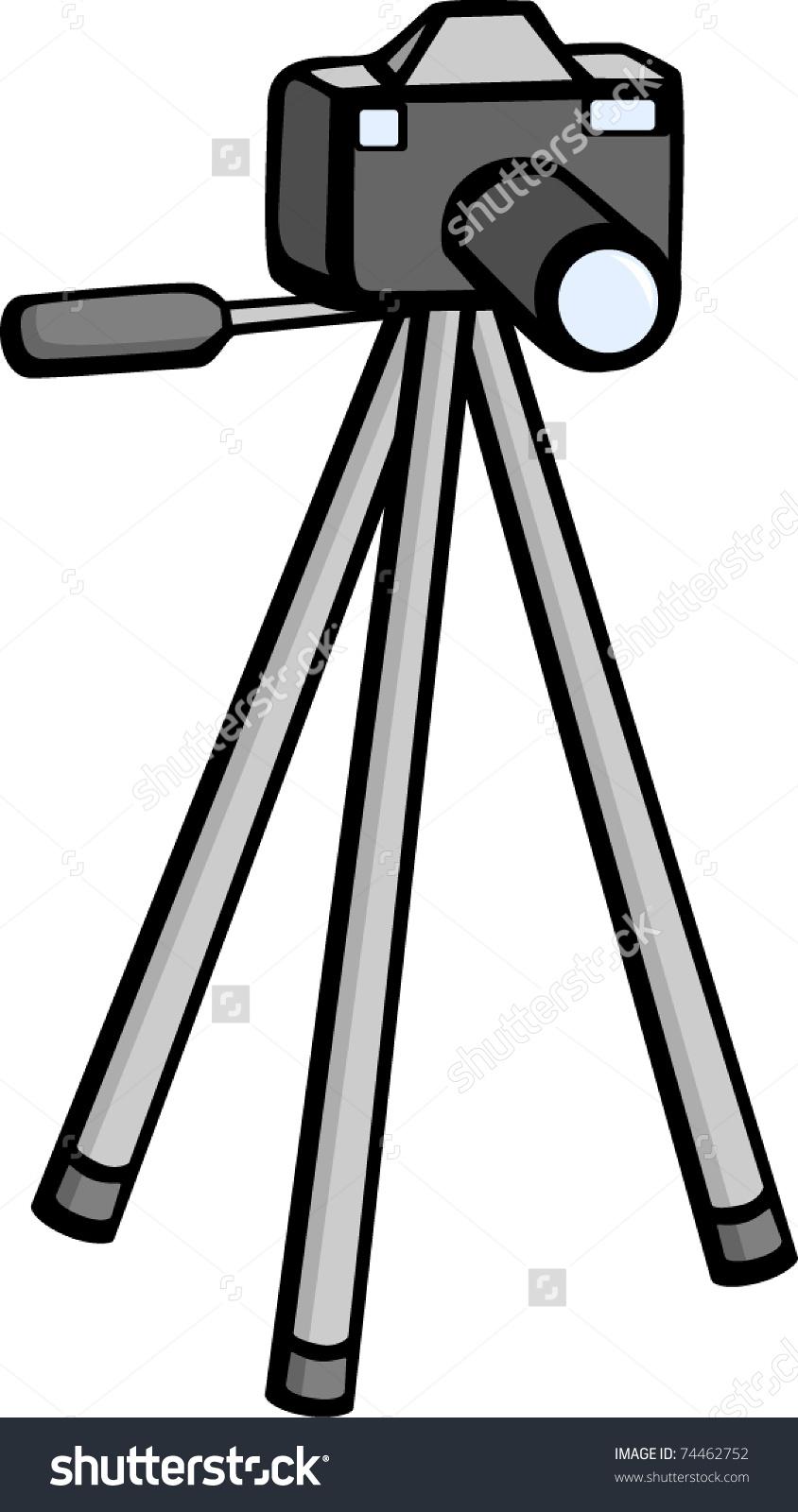Photographic Camera Tripod Stand Stock Vector 74462752.