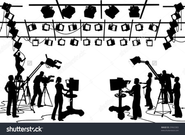 Camera crew clipart.