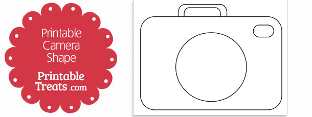 Printable Camera Shape Template — Printable Treats.com.