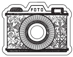 Vintage Watercolor Camera floral design.