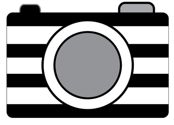 Striped Camera Clipart.