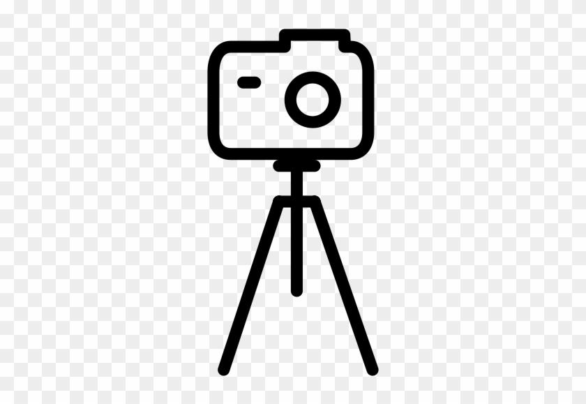 Tripod Withcamera, Camera Tripod, Dslr Icon.