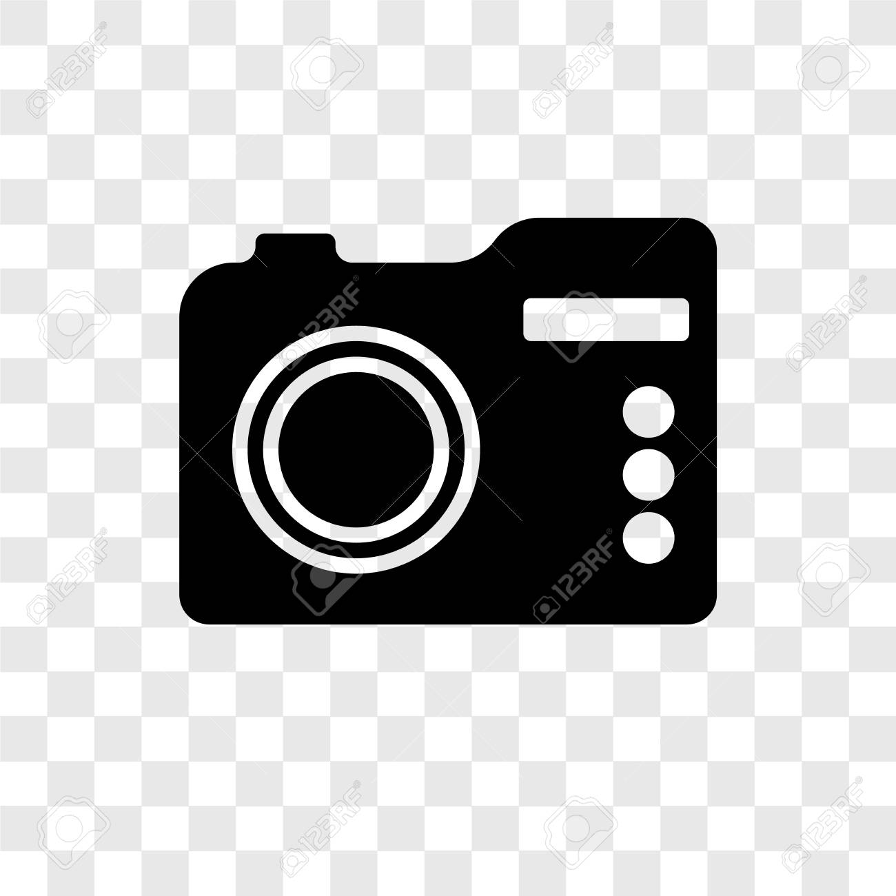 Camera vector icon isolated on transparent background, Camera...