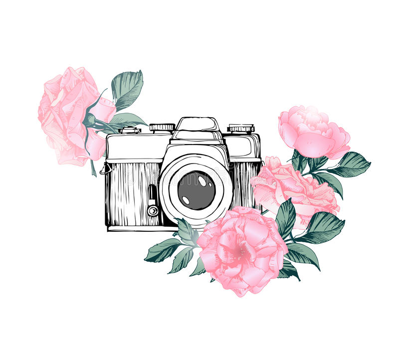 Download High Quality camera clipart flower Transparent PNG.