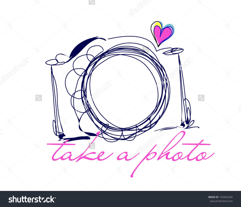 Banana Clip Art Black And White camera with heart clip...