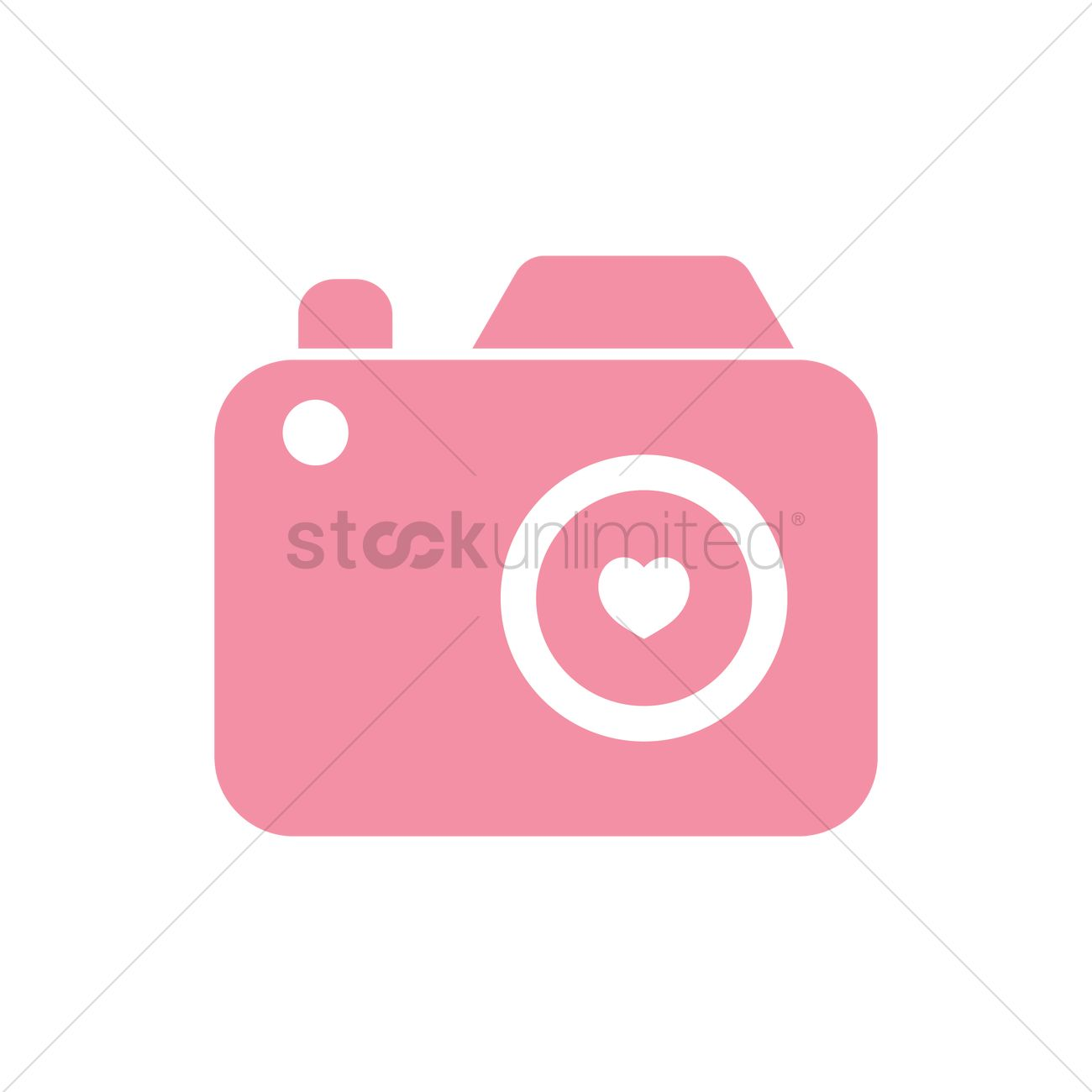 Camera with heart symbol Vector Image.