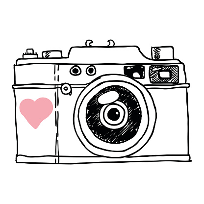 Camera Heart Cliparts.