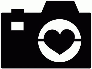 Camera With Heart Clipart.