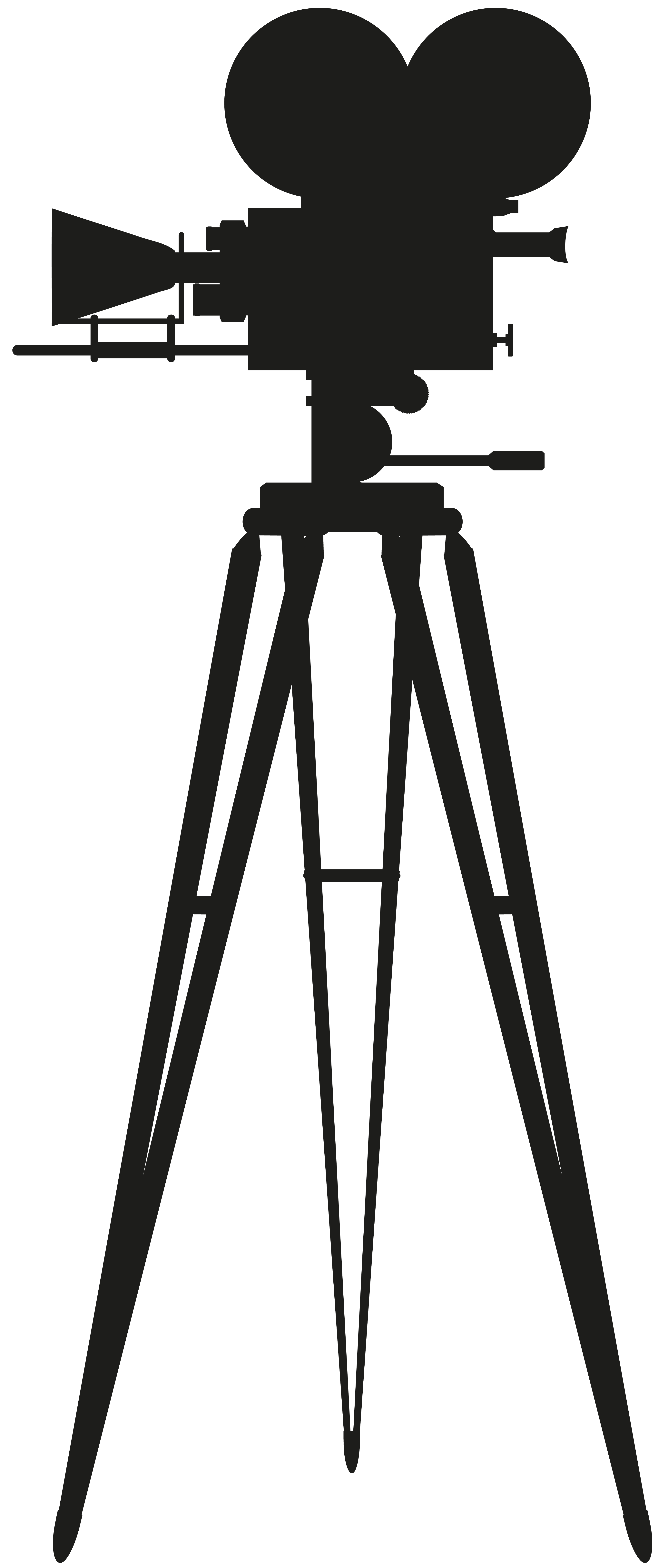 Camera On Stand Clipart.