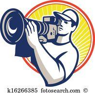 Cameraman Clip Art Royalty Free. 1,683 cameraman clipart vector.