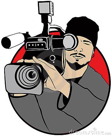 Camera man clipart.