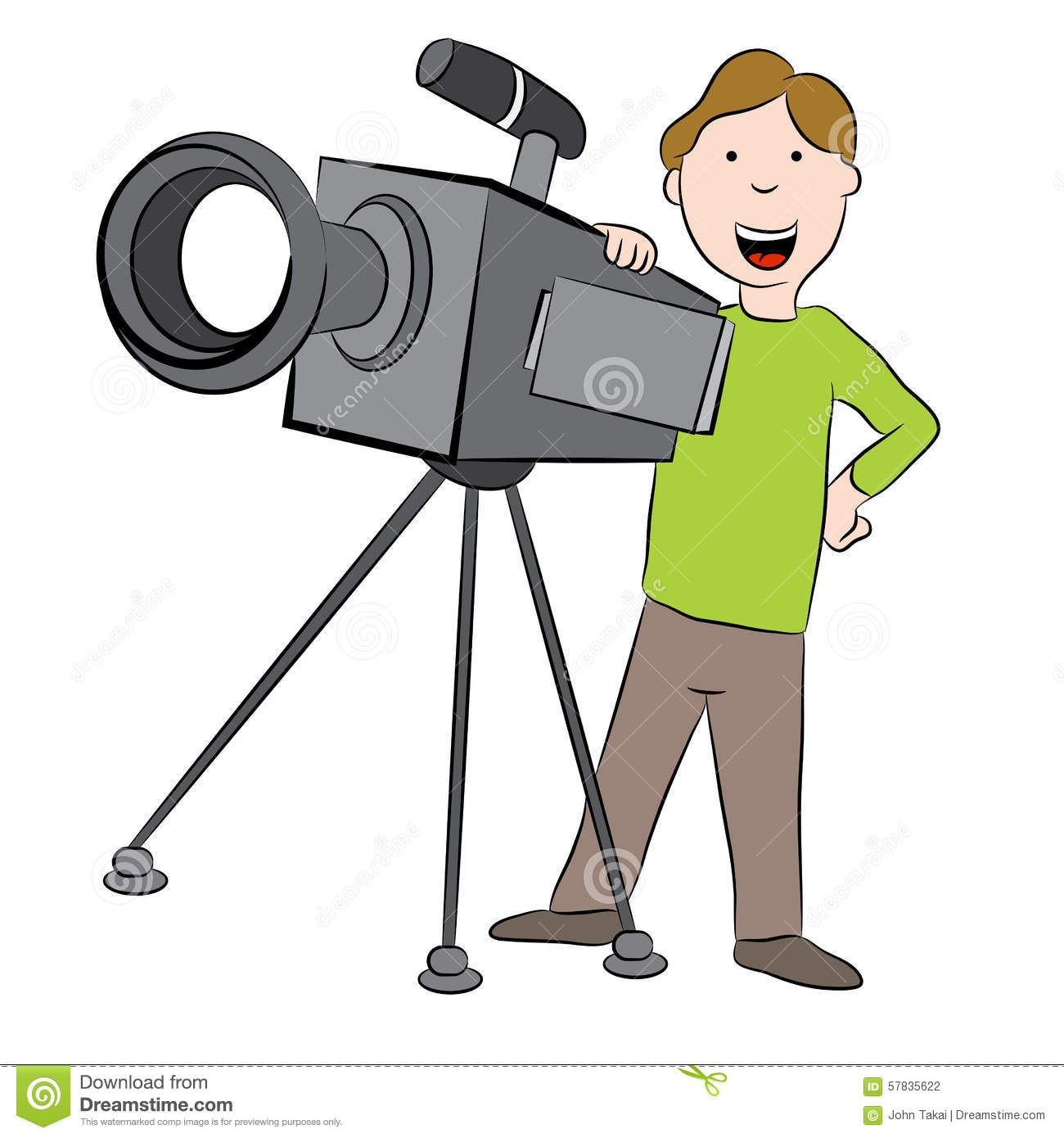 Cameraman Clip Art Royalty Free Stock Photography.