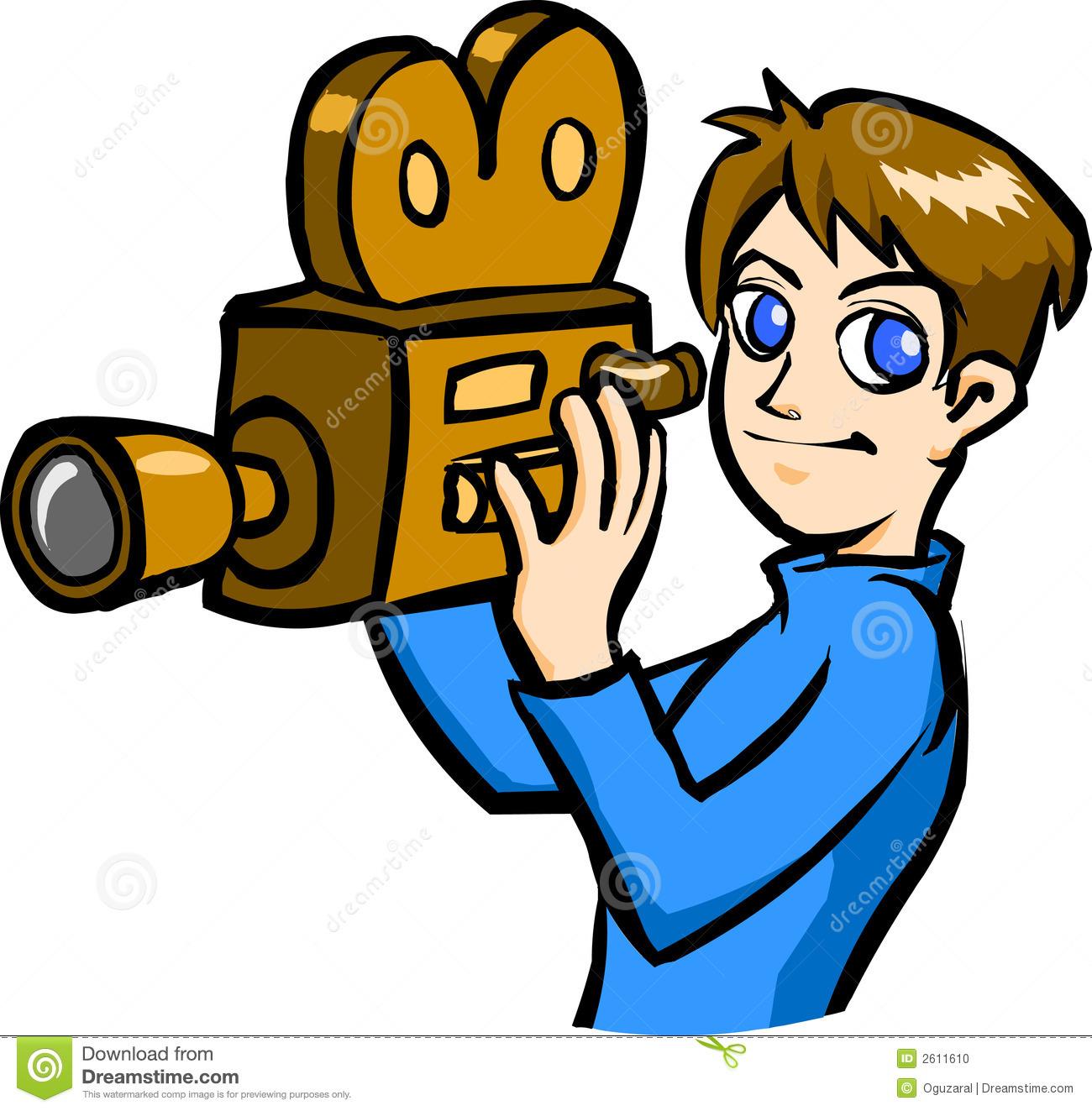Tv Cameraman Clipart.