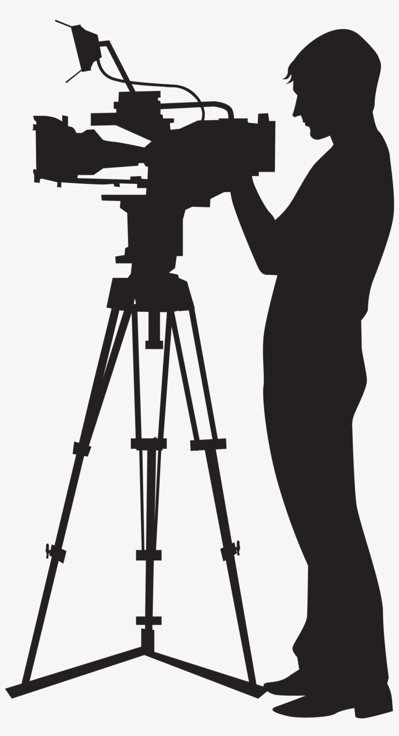 Picture Black And White Stock Camera Man Clipart.