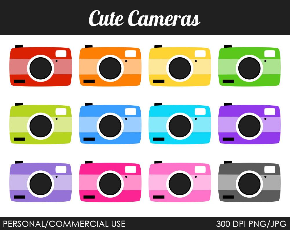 Clip Art Cute Camera Clipart.