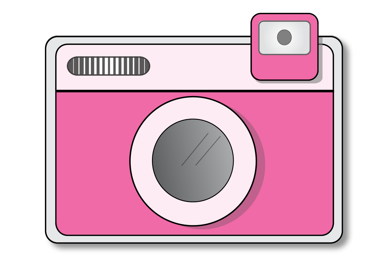 Pink Cameras Clipart.